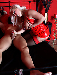 Lana has her slave booked round added to she is sucking his Hawkshaw fixed