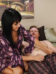Gung-ho cougar Isabella Montoya gets her pussy fucked.